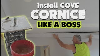Drywall Plastering Tips On How To Install Cornice Like A Pro