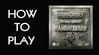 How To Play Monopoly: Star Wars The Mandolorian Board Game (Hasbro 2020)