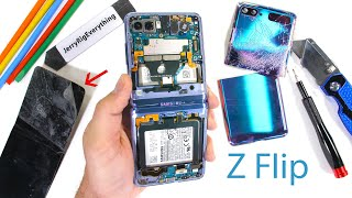 Samsung Galaxy Z Flip Teardown! - Where is the Glass?