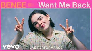 "BENEE - ""Want Me Back"" Live Performance | Vevo"