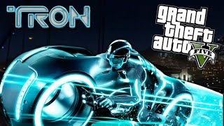 GTA 5 Mods - TRON MOD w/ TRON BIKE & NEW WEAPONS!! (GTA 5 Mods Gameplay)