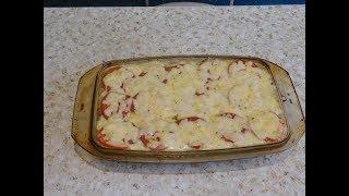 Картофельная запеканка с грибами и сыром (супер рецепт).