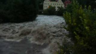 preview picture of video 'Hochwasser in Bautzen 08.2010'