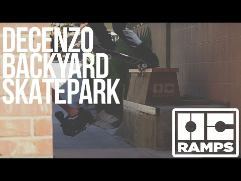 Ryan Decenzo builds and skates his backyard skate park!