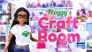 DIY - How To Make: Froggys Craft Room | Table | Shelves | Printables & More