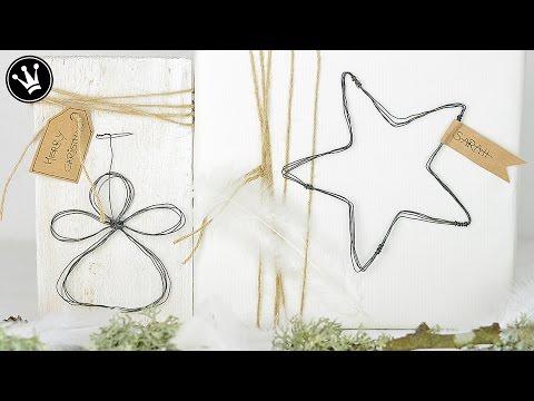 Weihnachtsdeko aus Draht - Schnell und einfach gemacht