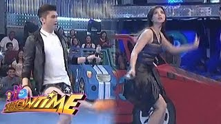 Vhong, Anne, Jhong And Anne Play Invisible Volleyball