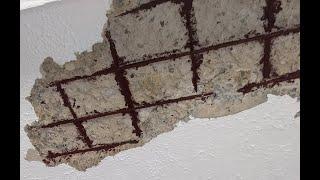 How to repair concrete ceiling tarnish.