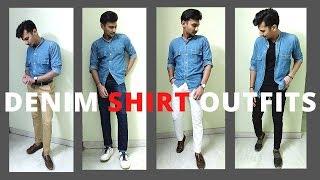 DENIM Shirt Outfits For Men| Mens Summer Fashion 2020 | Mukund Verma