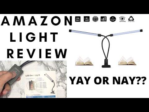 AMAZON LED DESK LIGHT UNBOXING/REVIEW | BEST LED LAMP FOR DIY NAILS