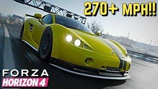 FORZA HORIZON 4 - 270+ MPH Ascari KZ1-R Tutorial!!