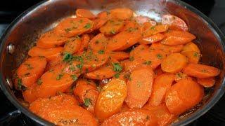 Easy Glazed Carrots Recipe | Stovetop Glazed Carrots | Episode 118