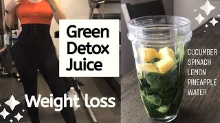 DETOX GREEN JUICE FOR WEIGHT LOSS | 30 DAY JUICE CLEANSE | LOSE BELLY FAT | WEIGHT LOSS 2020