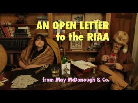 An Open Letter To The RIAA from May McDonough & Co.