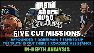 GTA San Andreas - Five Cut Missions - Feat. SWEGTA [Beta Analysis]