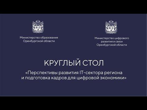 Круглый стол «Перспективы развития IT сектора региона и подготовка кадров для цифровой экономики»