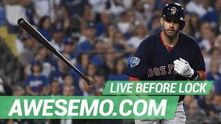 MLB DFS Live Before Lock - Mon 4/22 - DraftKings FanDuel Yahoo - Awesemo.com