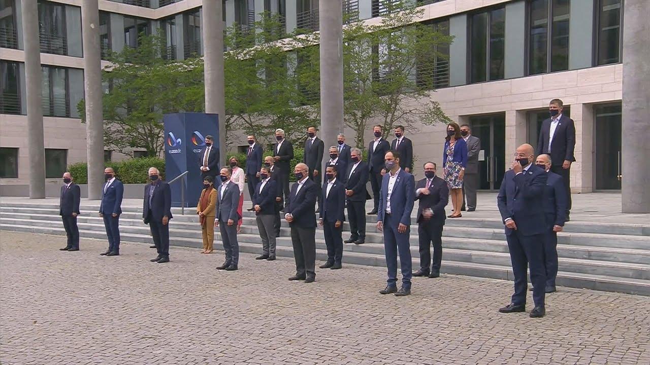 H φωτογράφηση  στο Άτυπο Συμβούλιο των Υπουργών Εξωτερικών της ΕΕ που πραγματοποιείται στο Βερολίνο