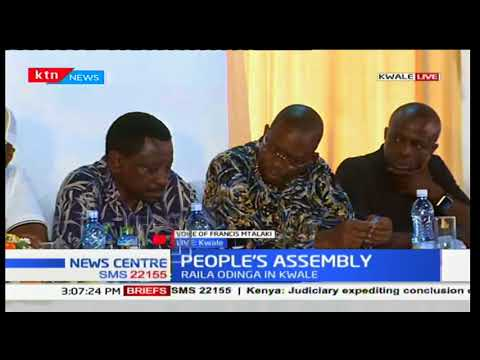 NASA principal, Raila Odinga holds a leader's meeting in Kwale County