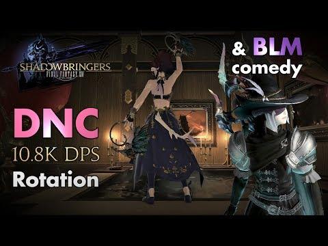FFXIV - Dancer/DNC 10.8k DPS rotation (and BLM comedy - Patch 5.08)