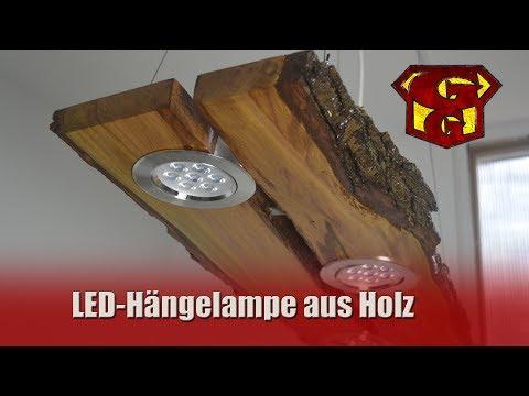 LED Deckenlampe aus Holz - Garagengurus #18
