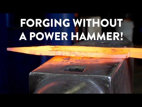 BLADESMITHING | Forging Without A Power Hammer | Basics