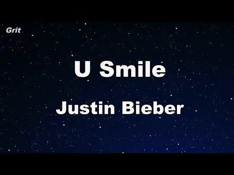 U Smile - Justin Bieber Karaoke 【No Guide Melody】 Instrumental