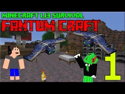 PRVNÍ NOC V NOVÉ VERZI! Minecraft survival 1.13! #1 |FANTOM CRAFT| w/CukeMan