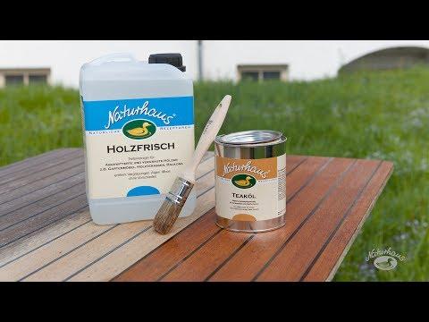 Gartenmöbel wie neu - auffrischen mit Naturhaus Holzfrisch und Teaköl