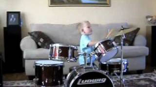 The Best Kid Drummer Ever! 3 year old Ben!