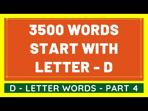 3500 Words That Start With D #4 | List of 3500 Words Beginning With D Letter [VIDEO]