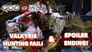 GOD OF WAR GAMEPLAY | VALKYRIE HUNTING & SECRET ENDING *SPOILER*