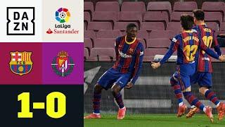 Schiri-Patzer! Dembele rettet Barca in letzter Minute: Barcelona - Valladolid 1:0 | LaLiga | DAZN