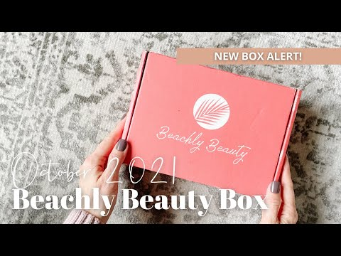 Beachly Beauty Box Unboxing October 2021