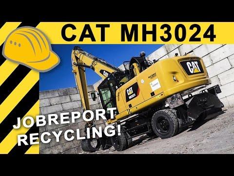 Das passiert mit eurem Müll! JOBREPORT Abfallsortierung | CAT MH 3024 MATERIAL HANDLER im Recycling
