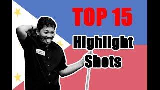 Efren Bata Reyes 2018!!! Top 15 Amazing and Highlight Shots