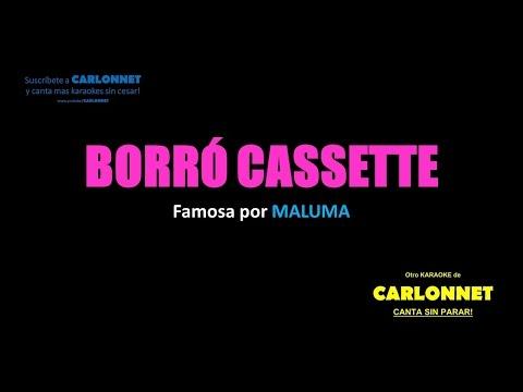 Borro Cassete Maluma