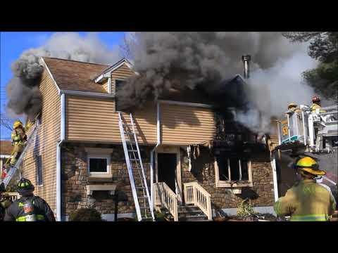 Oxford Ma 2- Alarm House Fire February 14 2018