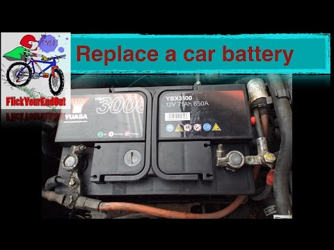 Vauxhall Zafira A 2002 -  How to replace a car battery (remove/refit)