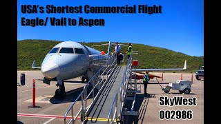 USA's Shortest Commercial Jet Flight - Eagle/Vail to Aspen PLUS Missed Approach due to Traffic!