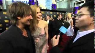 Joe Wong at the American Music Awards Red Carpet