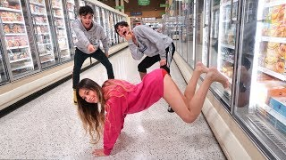 FUNNY DARES IN GROCERY STORE WITH GIRLFRIEND!