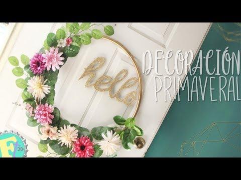 Corona PRIMAVERAL de FLORES para tu puerta! MUY FÁCIL! //Floritere