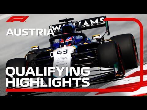 F1第9戦オーストリアGPの予選タイムアタックのハイライト動画