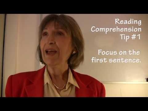 College Reading Comprehension Tip #1-First Sentences