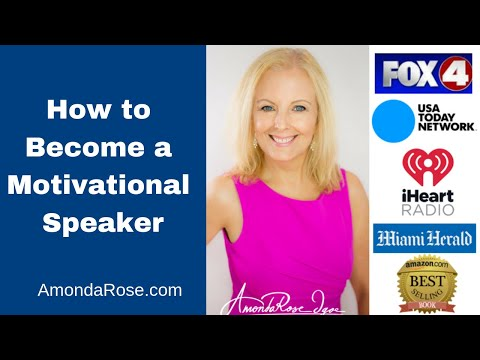 How to Become a Motivational Speaker | AmondaRose