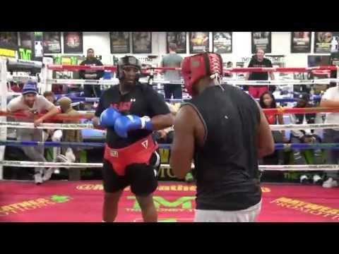 "Heavyweights Slug It Out In The Mayweather Boxing Club- AKA ""The Dog House"""