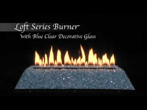 Loft Series Burner with Blue Clear Decorative Glass by Empire Comfort Systems