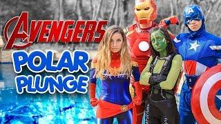 2019 POLAR PLUNGE Avengers Endgame | Brooklyn & Bailey