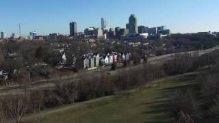 Drone Approach to Downtown Raleigh